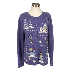 Croft & Barrow Snowman Ugly Christmas Sweater